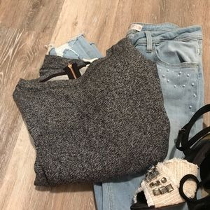 H&M Heathered Grey Sweater